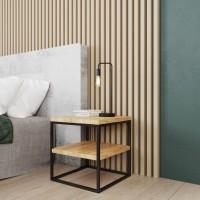 Stolik nocny industrialny – idealny dodatek do modnego wnętrza