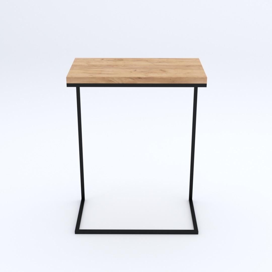 Industrialny metalowy stolik pomocniczy LATINA  na laptopa  loft