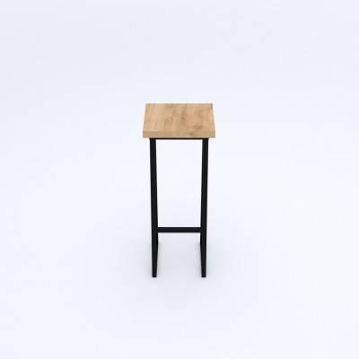 Loftowy metalowy hoker barowy VASTO 30x30x75