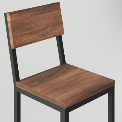 Industrialny metalowy hoker stołek barowy z oparciem TREVISO