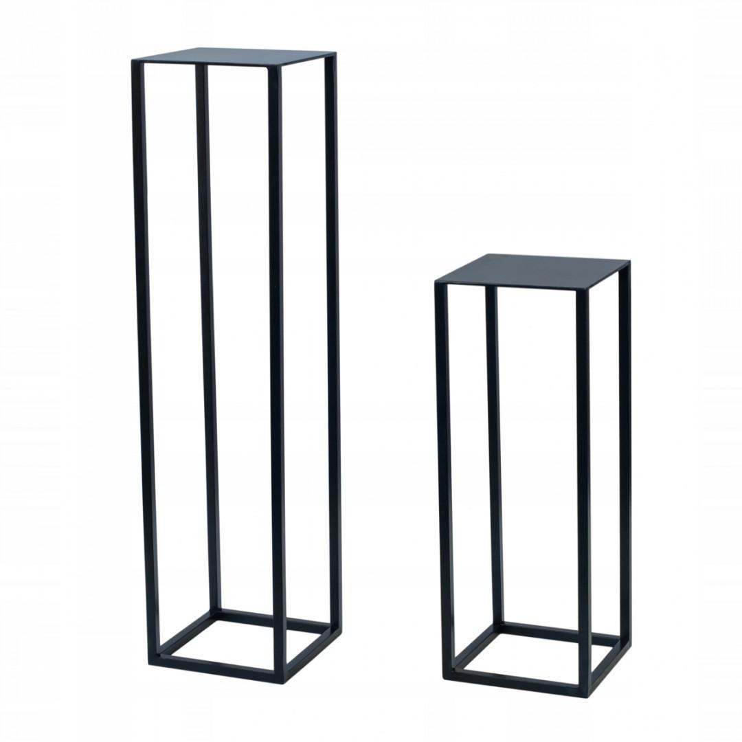 Metalowy kwietnik na stojaku loft SYRAKUZY 20x20x90