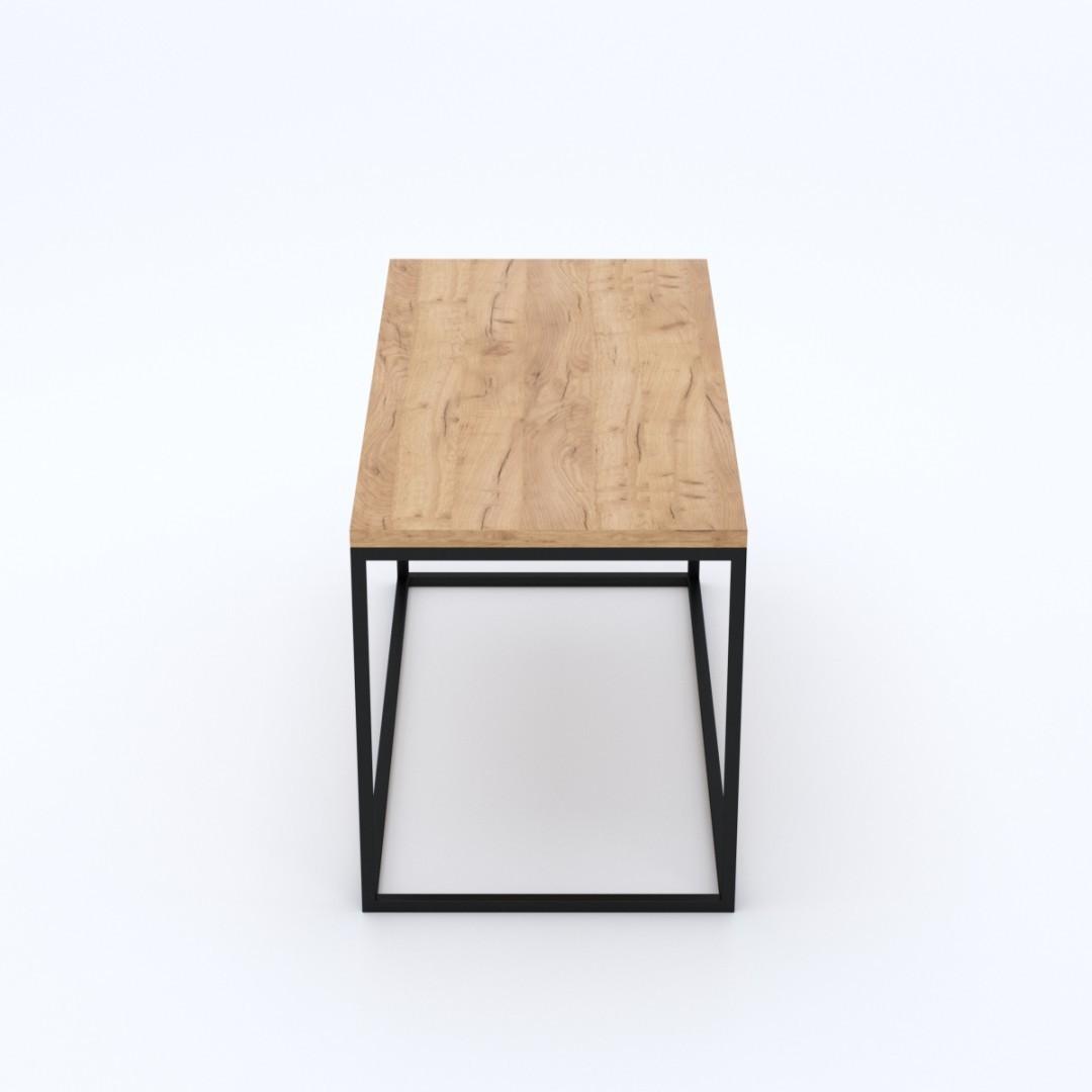 Industrialny dębowy stół do salonu FABRIANO