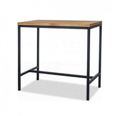 Dębowy stół barowy industrialny PIOVERE 100x60x100