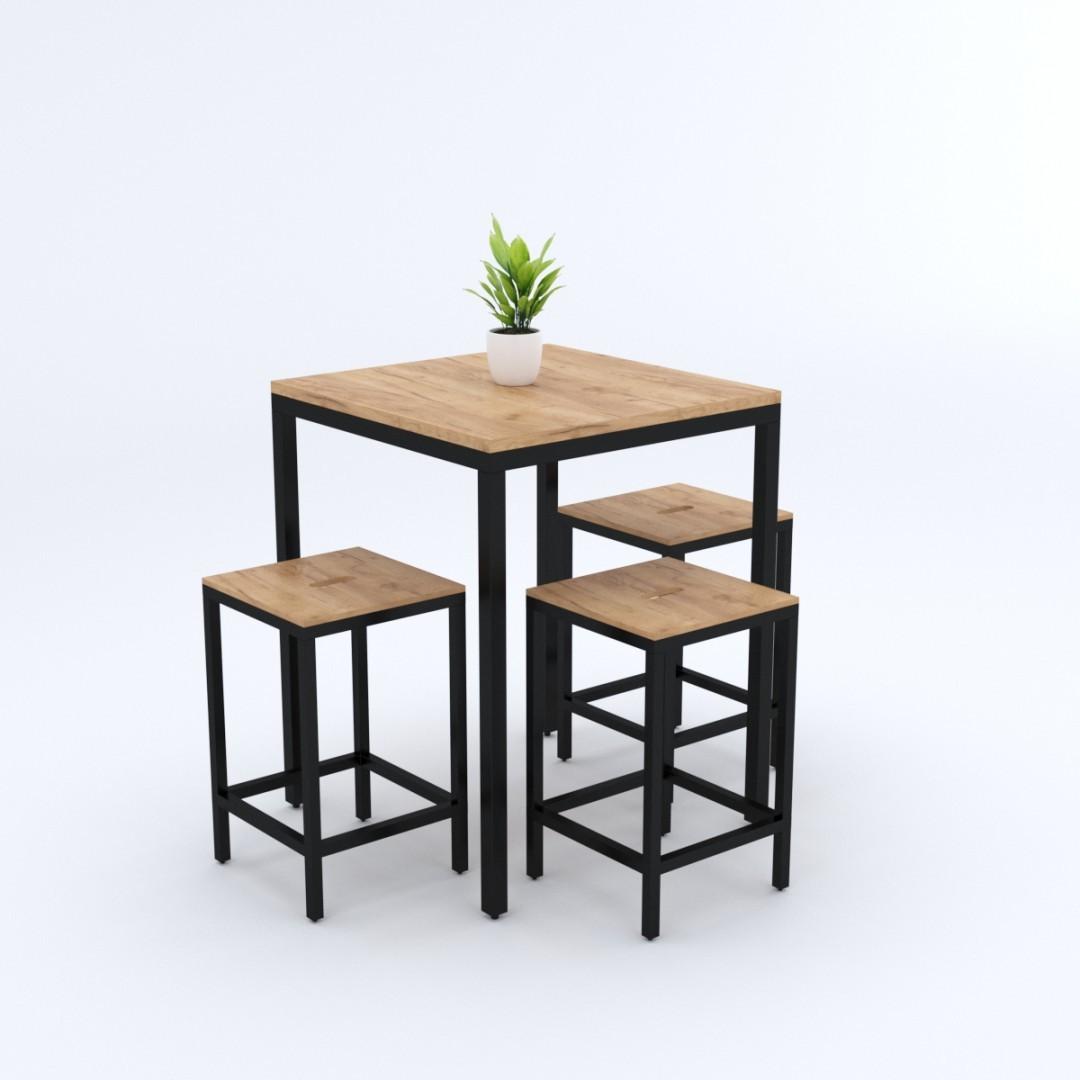Industrialny stół do kuchni LAZISE 60x60x75