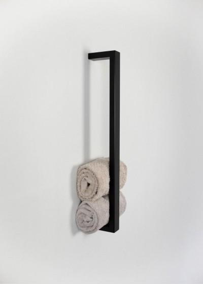 Pojedyńczy metalowy wieszak na ręczniki loft VALENTANO 60X15